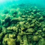 UW photo underwater photographer - Archeological documentation of Hertig Johans Dock in Vättern outside the city Hjo in Sweden