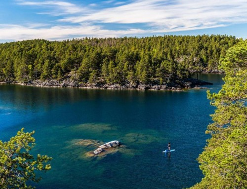 Beautiful archipelago – Ombo islands, lake Vättern, Sweden.