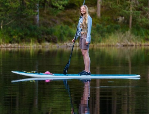 Stand-up paddling on a mirror – Tiveden National Park, Sweden