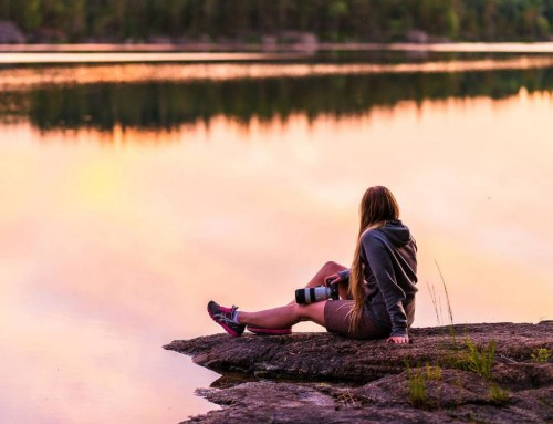 Sometimes you just have to take down the camera and enjoy the sunset – Tiveden National Park, Sweden