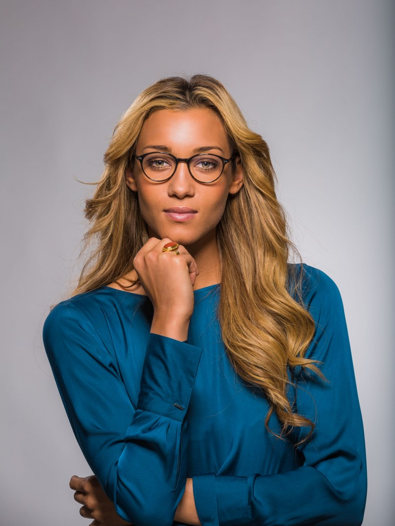 Eyewear fashion photography for Direkt Optik with model Ebony Anderberg