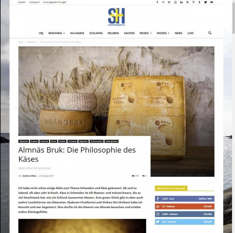 Almnäs Bruk - Die Philosophie des Käses - schwedenhappen ch