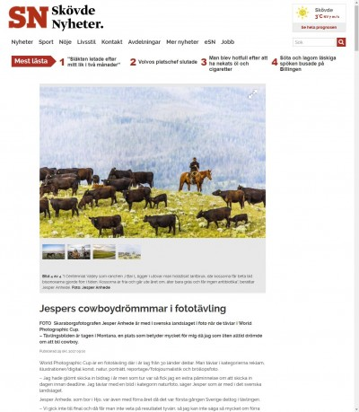 Jespers cowboydrömmmar i fototävling - Skövde Nyheter