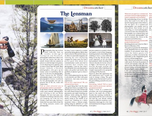 The Lensman – Article about me as a travel photographer in The Digest magazine
