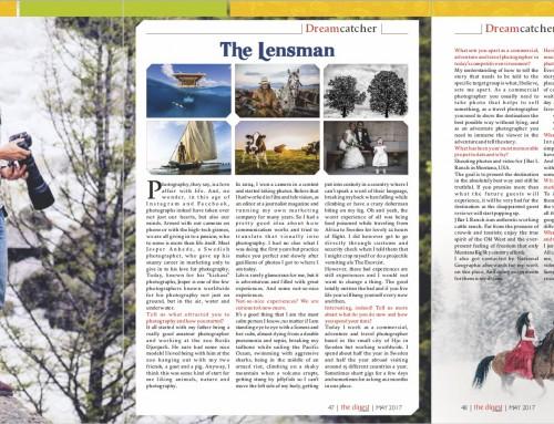The Lensman – Artikel om mig som resefotograf i tidningen The Digest
