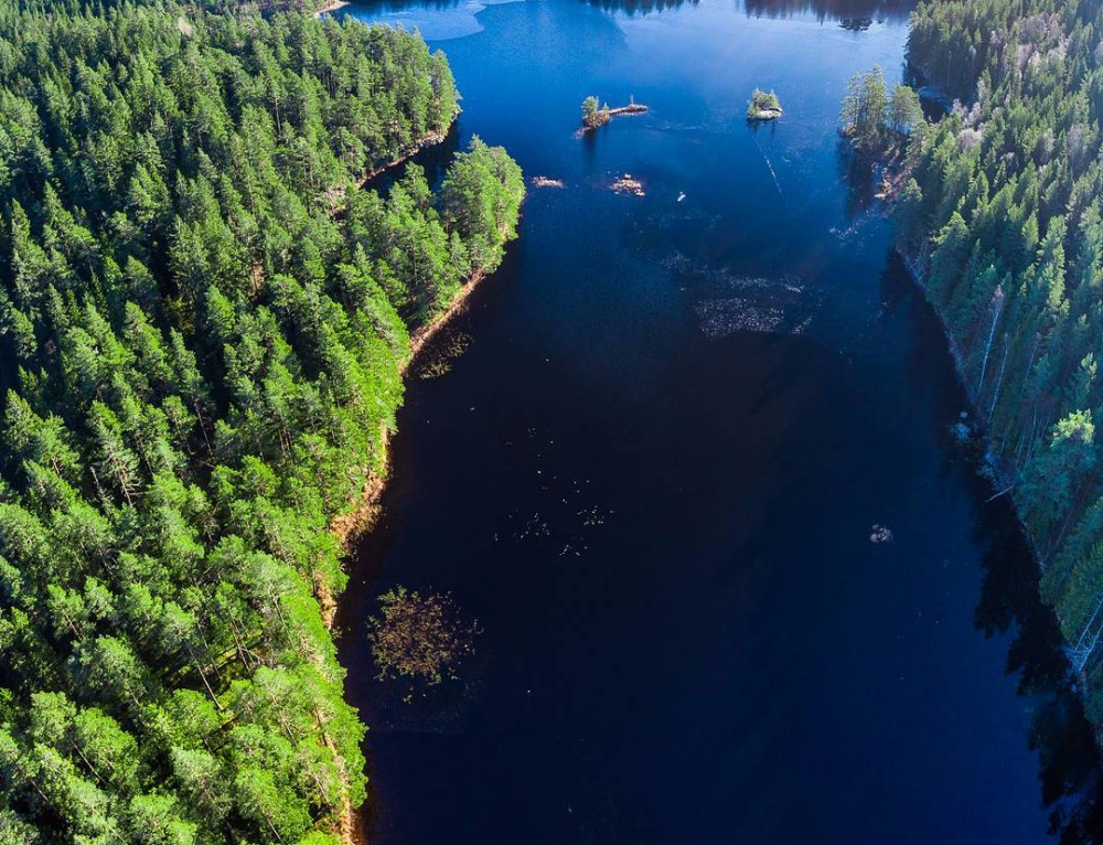 Aerial view of Tiveden, Sweden