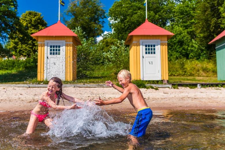 Badhytterna (cabana), Hjo strandbad