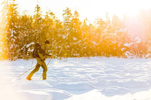 Sunset winter adventure. #skovde #outdoor #skiing #sweden #visitsweden