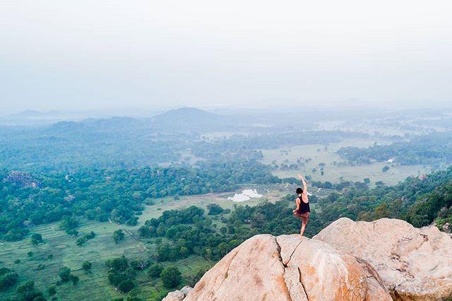 Morning yoga with a view at @Ulpotha Yoga Retreat. #yoga #srilanka #TravelPics #instago #asia