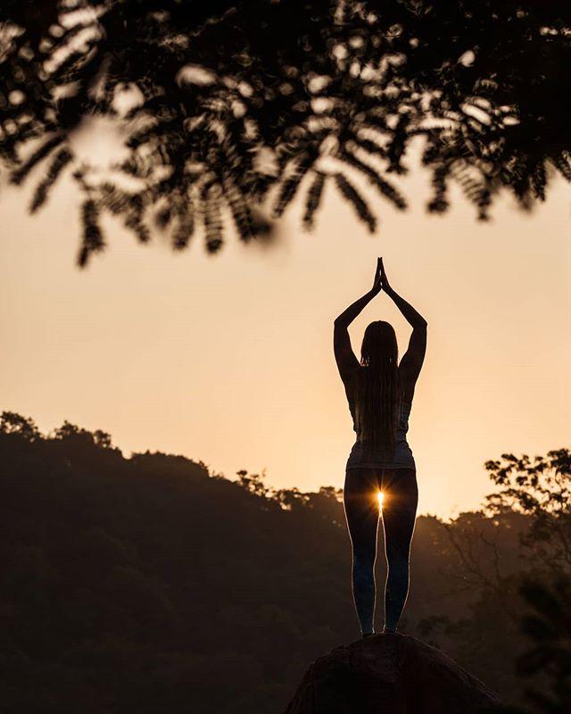 Sunset yoga at @Ulpotha. Sri Lanka. #srilanka #yoga #sunset