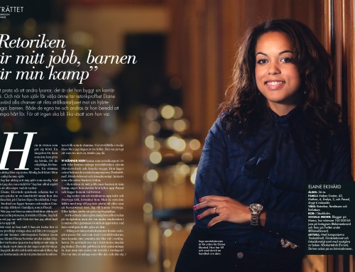 Portrait of Elaine Eksvärd for Femina magazine – Gothenburg, Sweden