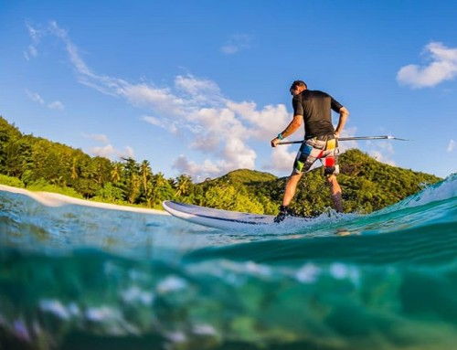 Who would like to join me for some stand-up paddle in the Seychelles. #seychelles #sup #standup #surf #underwater