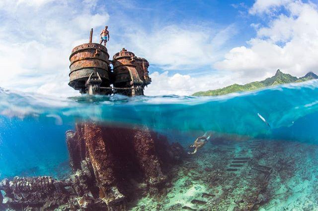Wanderlust snorkeling at SS Mai Tai outsideCook Islands. #cookislands #ssmaitai #snorkeling #wanderlust #underwater