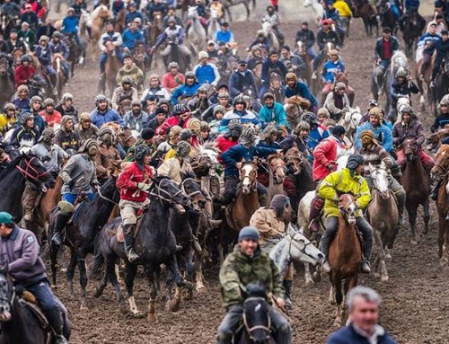 The game of Buzkashi seems to have originated in Afghanistan where it is still the country's national sport. Legend has it that the game was first invented centuries ago when Afghan tribes would gallop up on horseback to steal a rival tribe's goats from their flock. #buzkashi #nationalsport #aghanistan #horse #gallop