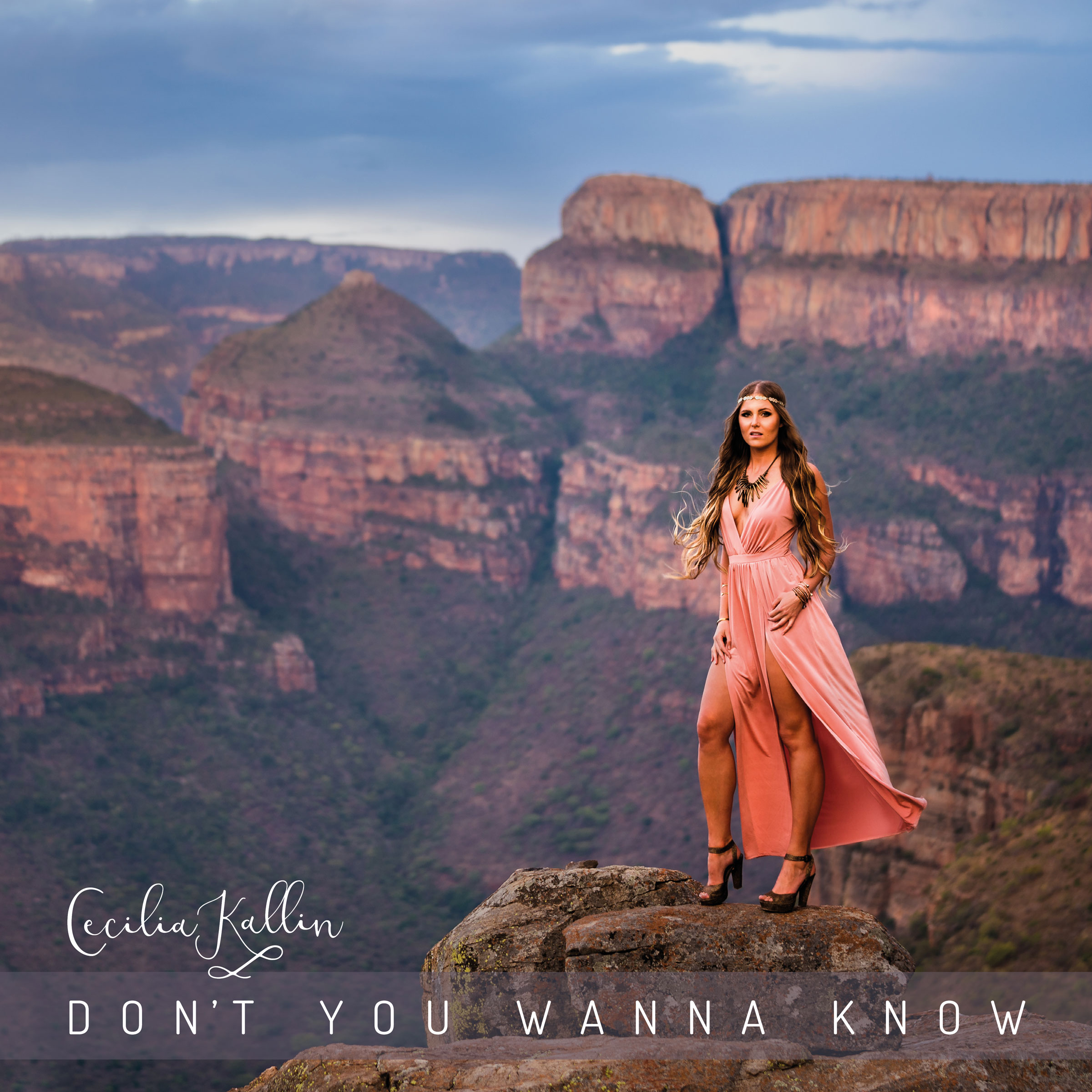"Album cover for ""Don't you wanna know"" by the Swedish singer-songwriter Cecilia Kallin"