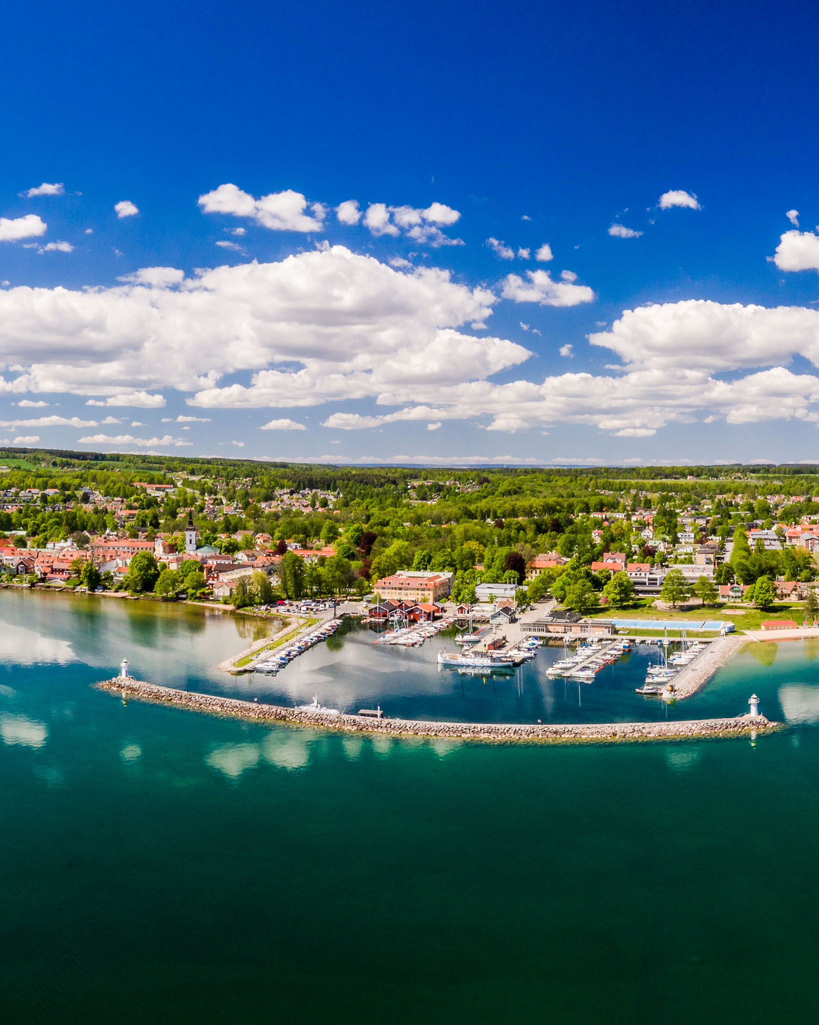 hjo-town-sweden-aerial-drone-swedish-photographer