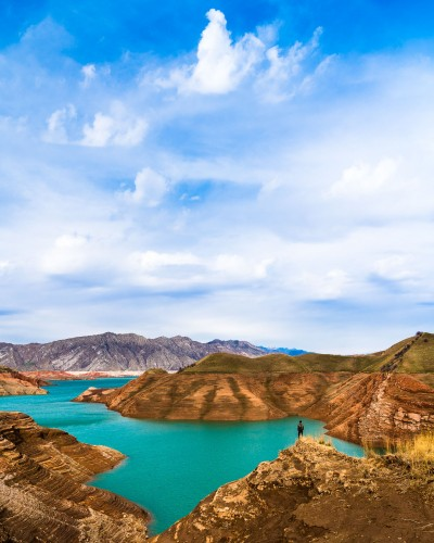 Tajikistan - hiking - landscape photographer - mountains - water - Nurek reservoir