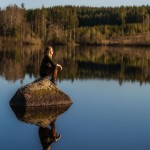 sweden-nature-outdoor-woman-water-calm